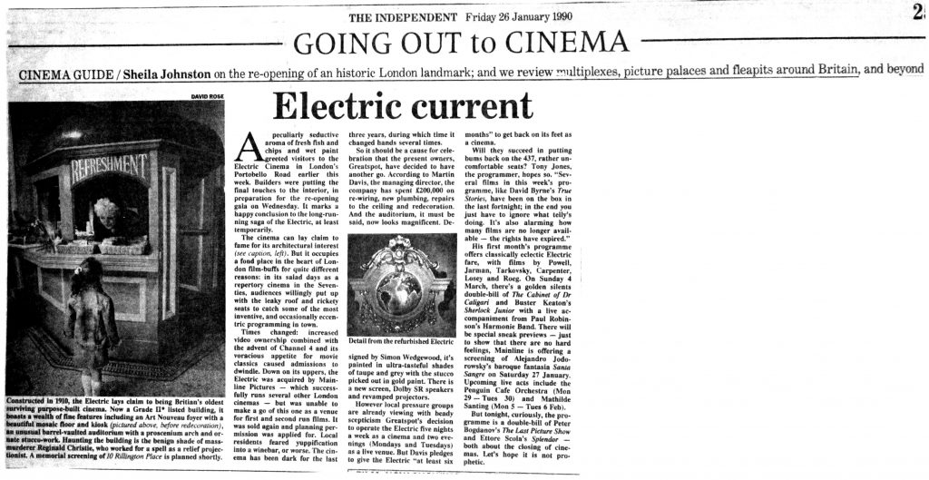 'Electric Current' The Independent