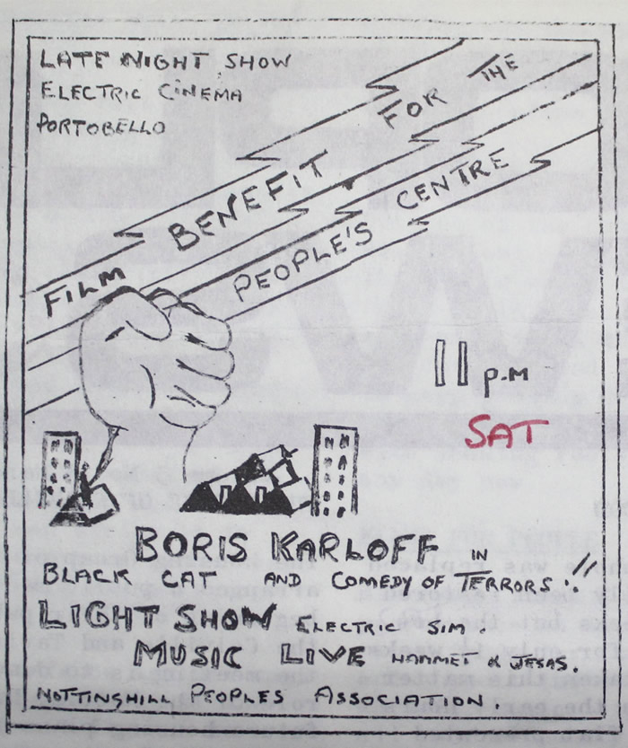 Electric Film Club benefit for People's Centre