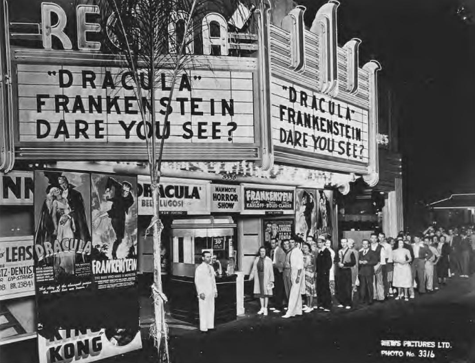 Universal horror double-bill at the Regina-Wiltshire Theatre, L.A., brings Dracula back to life